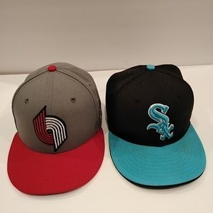 New Era Fitted Hats Trailblazers & White Sox